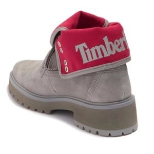 Timberland Carnaby Cool Fold Down Boot Gray & Red